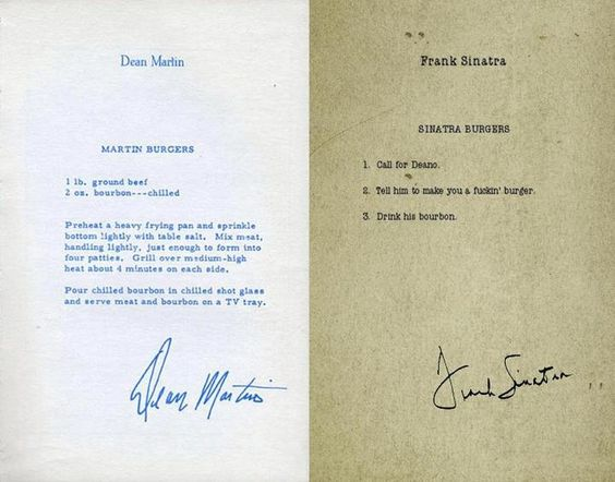 Dean Martin's burger vs. Sinatra's burger