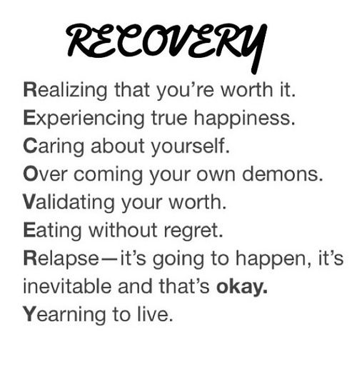 Why Recovery Is Worth It and Self Doubt Is Not...