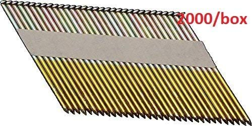 Airtoolsdepot Orionpower Opn 1 Clipped Head 3 1 2 Inch X 120 Inch X 34 Degree Hot Dipped Galvanized Smooth Shank Paper Tape Collated