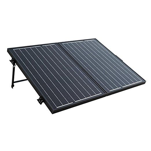 Eco Worthy 100 Watt 12v 12volt Off Grid Monocrystalline Portable Foldable Solar Panel Suitcase With Charge Cont Solar Panels Best Solar Panels Solar Panel Kits