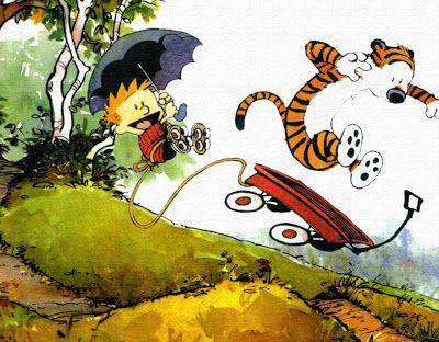 """""""A vida é como topografia, Haroldo. Há picos de felicidades e sucessos, pequenos campos da chata rotina e vales de frustrações e fracassos.""""  - Calvin e Haroldo"""