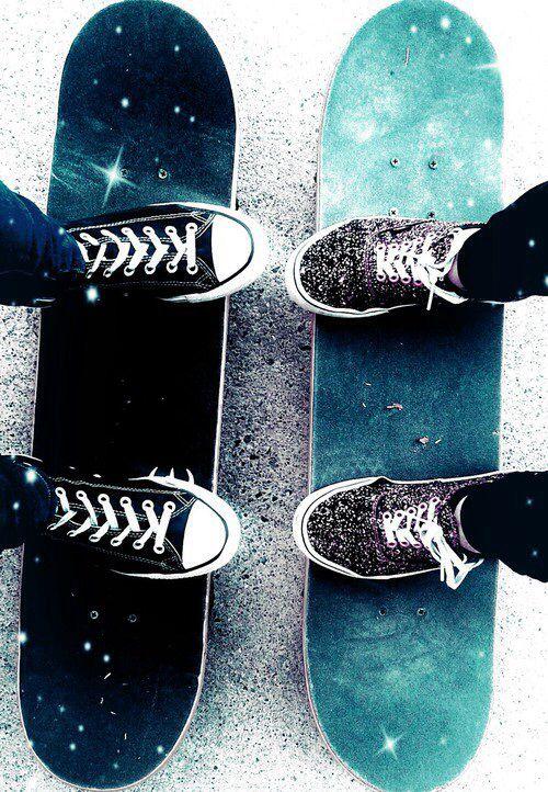 宇宙のデザインのようなスケートボード