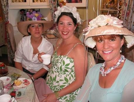 Pregnant lady at a tea party ;)