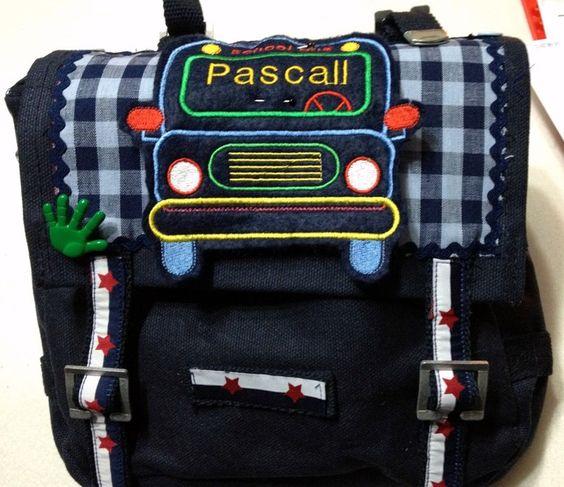 Kindergartentasche mit Applikation + Namenschild