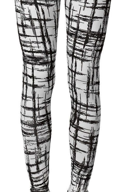 black and white yoga pants - Pi Pants