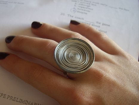 DIY Ring Tutorial. I would consider adding a small bead in the middle or something to give it some color.