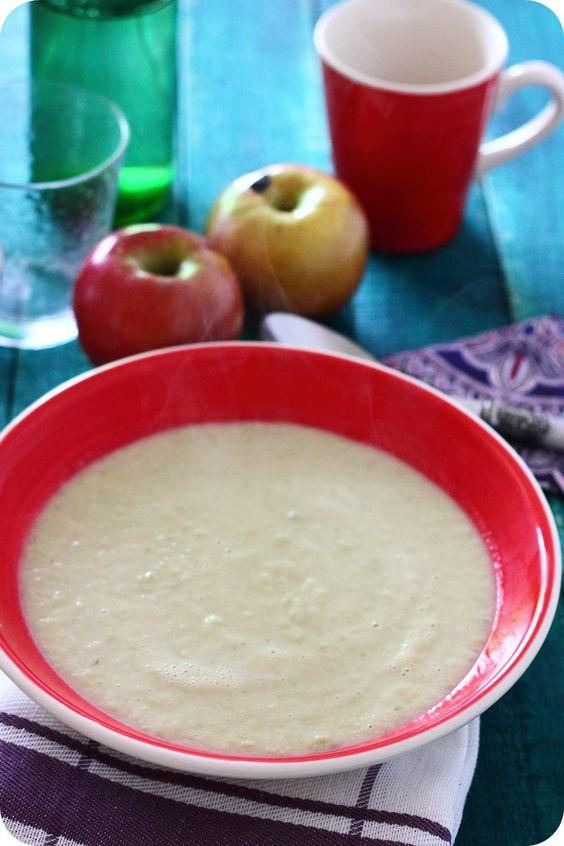 crema de apio y manzana