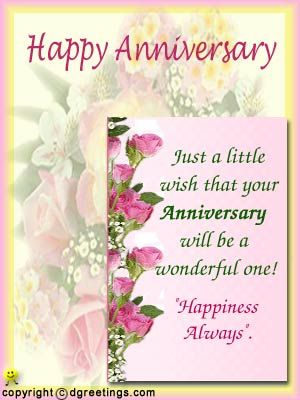 Happt Anniversary Wishes