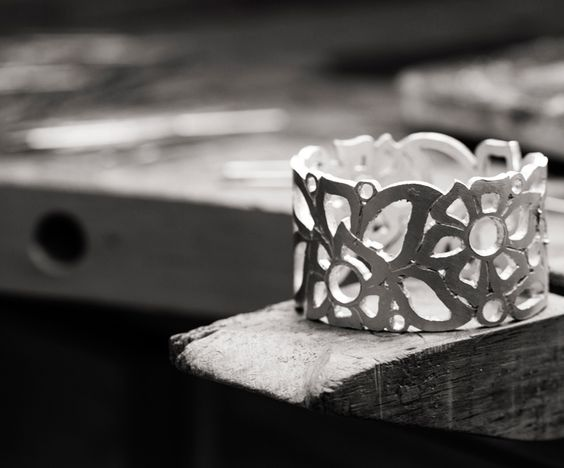 Inside Carelle's design studio in NYC, the Florette cuff comes to life
