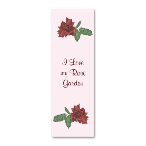Deep red roses mini book marks business card book store business deep red roses mini book marks business card book store business cards pinterest business cards and business reheart Choice Image