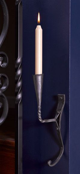 Blacksmith Taper Wall Sconce & Coat Hook - Hudson and Vine