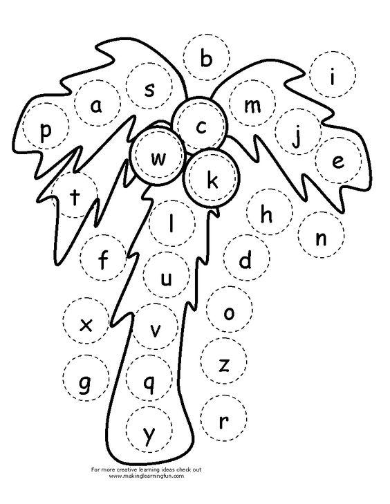 chicka chicka boom boom palm tree template - chicka chicka boom boom use at sensory table as