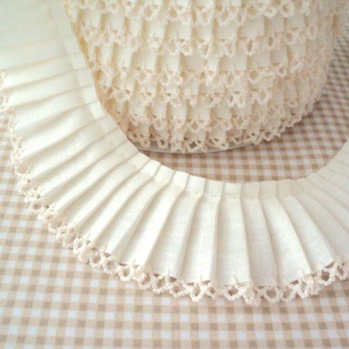 Cotton Fabric Trim Picot Lace Edge Plain Bias Binding Trim Black