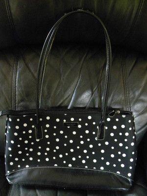 Kate Spade Hand Bag....cute for Spring/Summer!  Love the Polka Dots! $9.99: Spades Counterfeiting, Hand Bags, Spade Hand, Kate Spades