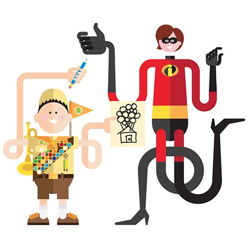 Inside Pixar - illustrations for Fast Company by danilo agutoli, via Behance