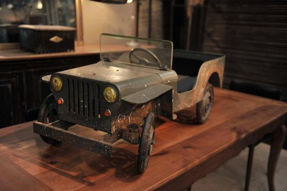Jeep Iron Pedal Car, Manufactured in France, circa 1950