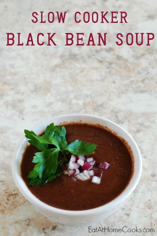 Slow Cooker Black Bean Soup | Recipe | Black Bean Soup, Black Beans ...