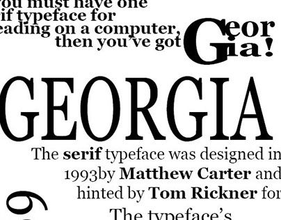 "Check out new work on my @Behance portfolio: ""to design a poster for one of the typeface Georgia"" http://be.net/gallery/34520849/to-design-a-poster-for-one-of-the-typeface-Georgia"