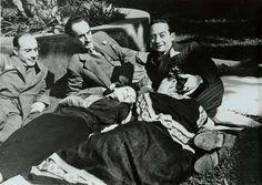 Dolores del Río y Frida Kahlo, con Rodolfo Usigli, Adolfo Best Maugard y Xavier Villaurrutia, By Nickolas Murray