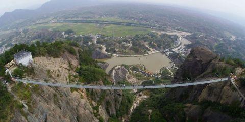 This Utterly Terrifying Glass Bridge Just Opened in China