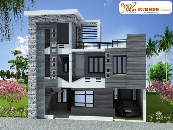 3 bedrooms duplex house design in 180m2 10m x 18m design for Modern house description