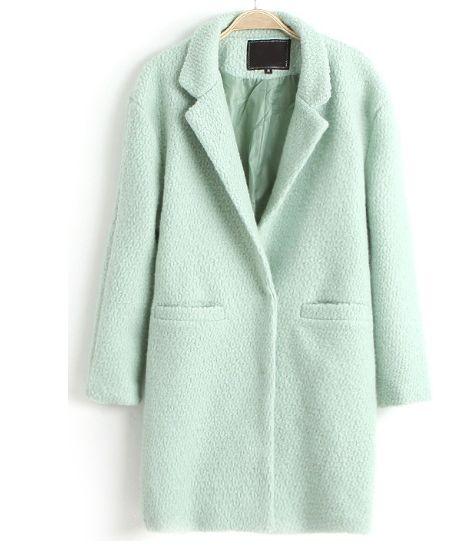 manteau femme vert menthe veste femme en laine manteau femme tendance cardigan femme