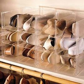 Clear Stacking Shoe Storage Bins, Shoe Organizer, Shoe-eze™ | Solutions