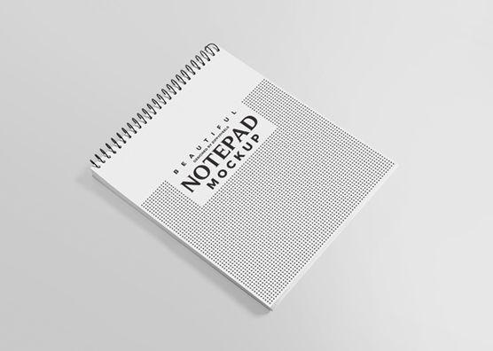 Free Ringed Notepad Mockup Mockup Presentation Templates