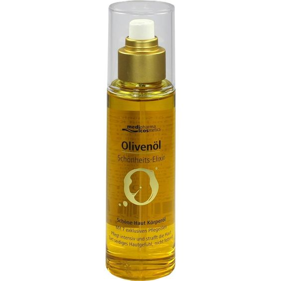 OLIVENÖL Schönheits-Elixir schöne Haut Körperöl:   Packungsinhalt: 100 ml Öl PZN: 10551965 Hersteller: Dr. Theiss Naturwaren GmbH Preis:…