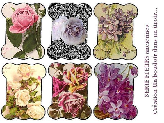 Des fleurs anciennes et de quoi les couper... - Un boudoir dans un tiroir...
