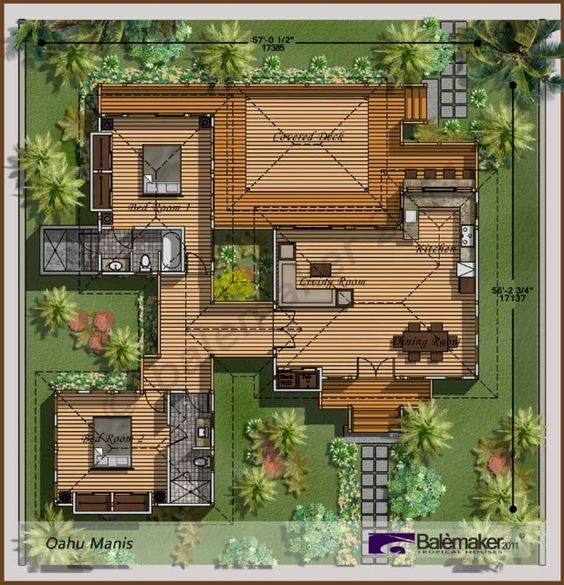 Bali style house plans astounding bali houses oahu manis for Balinese style home designs