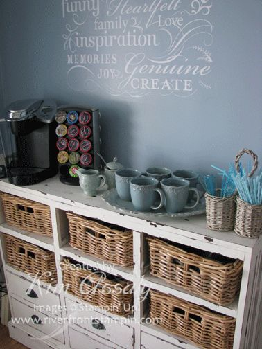 Coffee Station. This would be really nice in a therapy office setting.