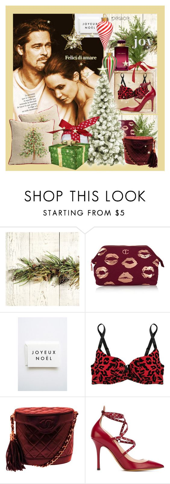 """""""The Princess - Carte Postale .. Joyeux Noël 2015 **"""" by sylvialucky ❤ liked on Polyvore featuring Ballard Designs, Dolce&Gabbana, Charlotte Tilbury, L'Agent By Agent Provocateur, Chanel and Valentino"""