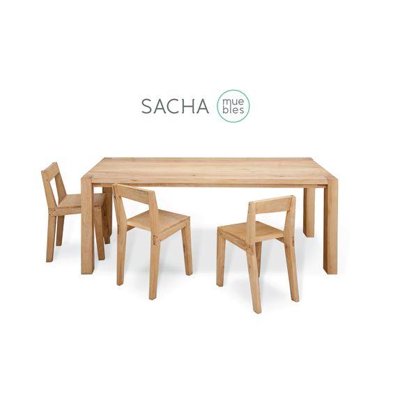 Mesas y sillas chaco : : : #todo #madera #guatambú #muebles ...