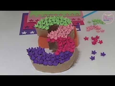 Cómo Hacer Un Número En 3d Decorado Con Flores Youtube Manualidades Cómo Hacer Como Hacer Flores