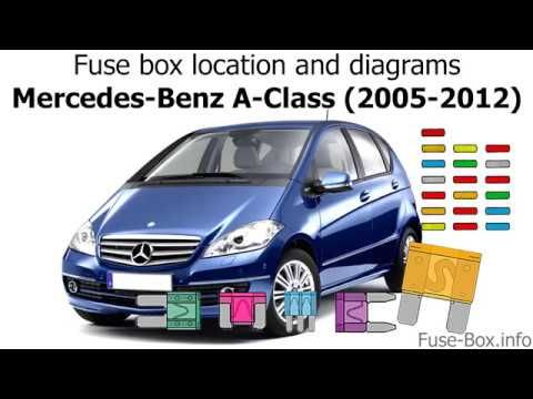Fuse Box Location And Diagrams Mercedes Benz A Class 2005 2012 Youtube Benz A Class Mercedes Benz Benz