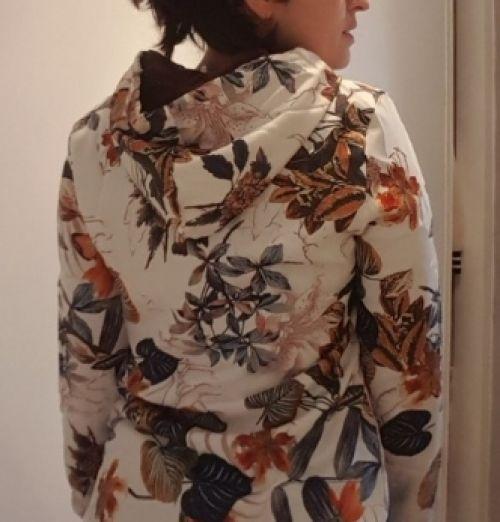 Winter Damen Warm Blumen Floral Kapuzenpullover Long Lose Jacken Mantel Outwear