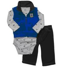 Carter's Infant Boys 3-PCS MICROFLEECE VEST SET Blue & Grey Sizes 3 & 6 MOS NWT  Buy It Now At:  http://stores.ebay.com/Bumblebee-Boutique99