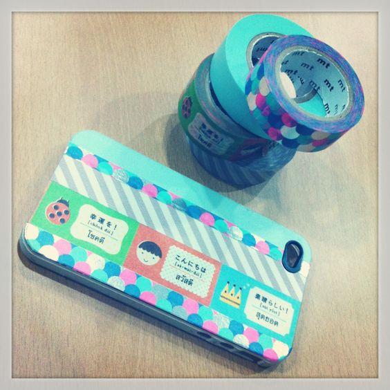 Masking tape DIY on iPhone case
