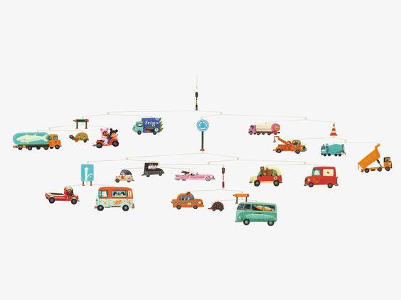 DJECO MULTI-COLOURED Paper Traffic mobile - HabitatUK £30