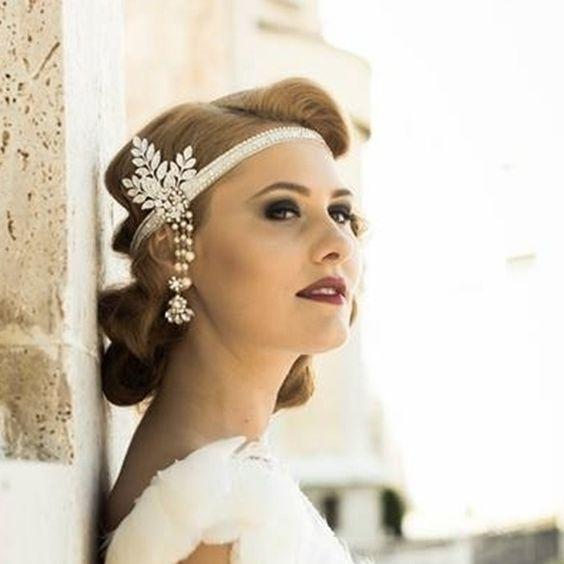 Headband mariee dentelle accessoire coiffure mariage,charleston bandeau ,boheme, serre,tête mariee vintage rétro années 20, dentelle