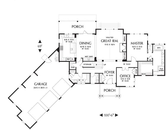 Plan Ferguson House Plan     The House Designers  LLC   West    Plan Ferguson House Plan     The House Designers  LLC