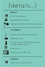 bachelorette party itinerary template - Google Search