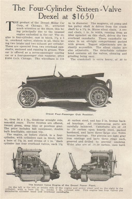 1917 Drexel Club Roadster The Drexel Motor Car Co Succeeded The Farmack Motor Car Co In 1916 The Farmack Motor Car Co Prod Motor Car Used Cars Car Projects