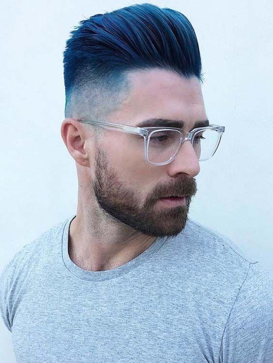 40 Best Undercut Short Blue Haircuts For Men 2018 Mens Blue Hair