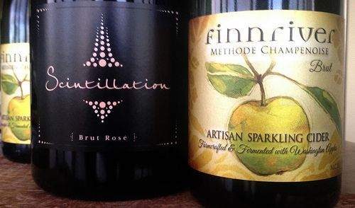 Happy Thanksgiving. Today will feature Syncline Scintillation and Finnriver Cider. #wawine #wacider