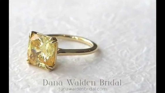 yellow sapphire engagement ring - Google Search