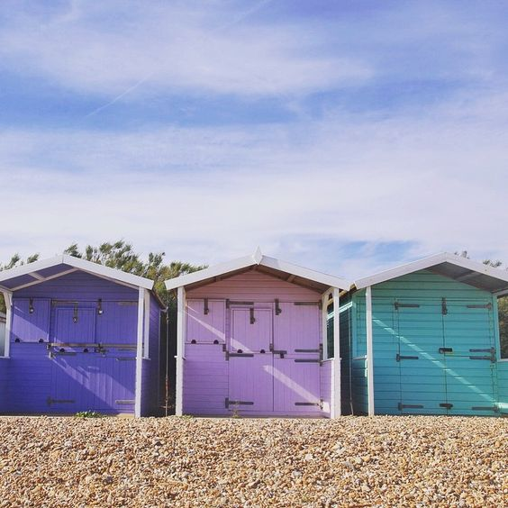 """Morning all! A few more pastel #beachhuts for you :)"" Photo taken by @zoepower on Instagram, pinned via the InstaPin iOS App! http://www.instapinapp.com (06/15/2015)"