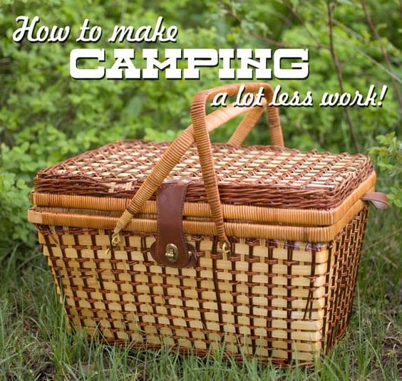 Yes! Camping tips & tricks - ways to help cut some of the work out of camping