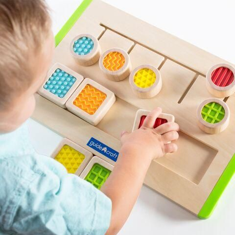 Touch and Match Sensory Recognition Board Montessori Touch Kids Children Toy S